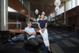 Professors Stephen Wilson and Ania Bleszynski Jayich will co-direct the campus's new Quantum Foundry