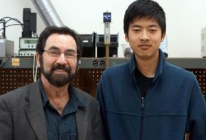 Physics professor Philip Lubin, left, heads UCSB's Experimental Cosmology Group, and is adviser to undergrad astrophysics major Qicheng Zhang, right.